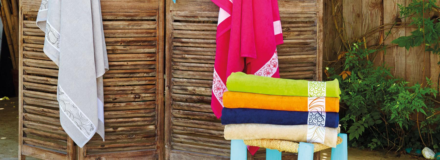 Peignoir, serviette et drap de bain