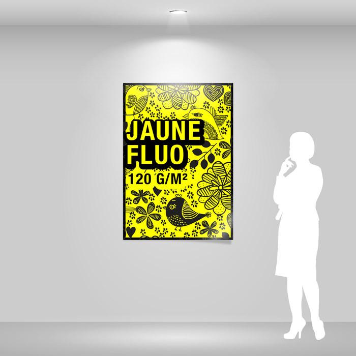 Affiche papier jaune fluo A0