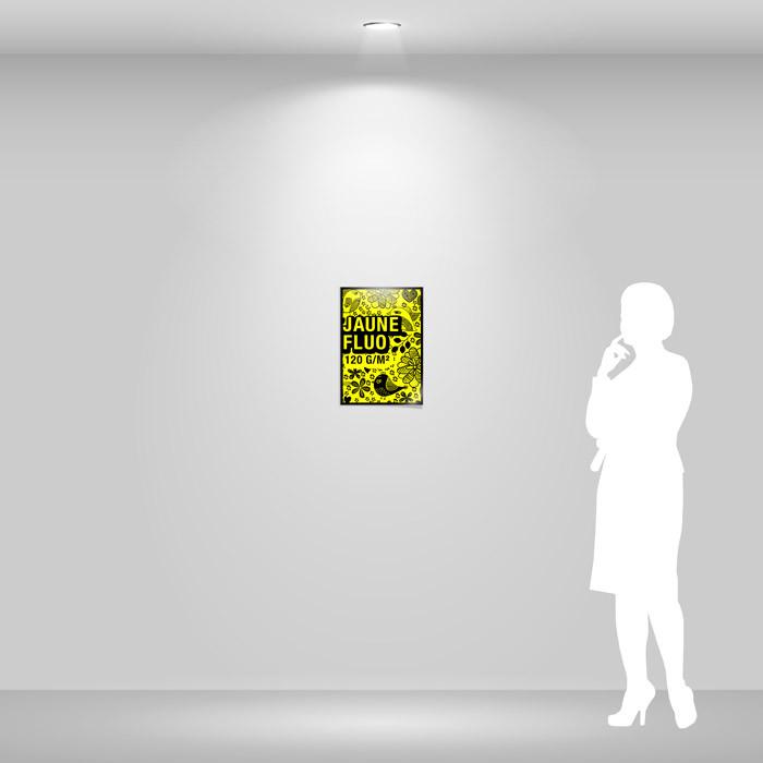 Affiche papier jaune fluo A3