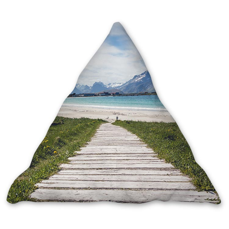 Coussin triangulaire 45*45*45 cm