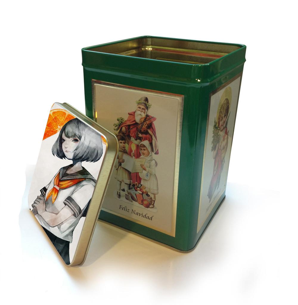 Boîte carrée verte