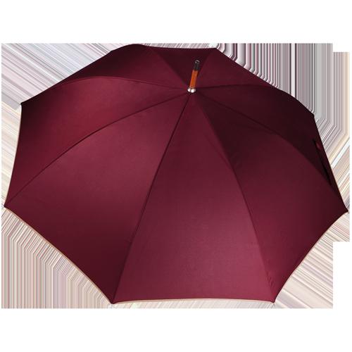 Parapluie poignée bois-Burgundy(#800020)-Unique