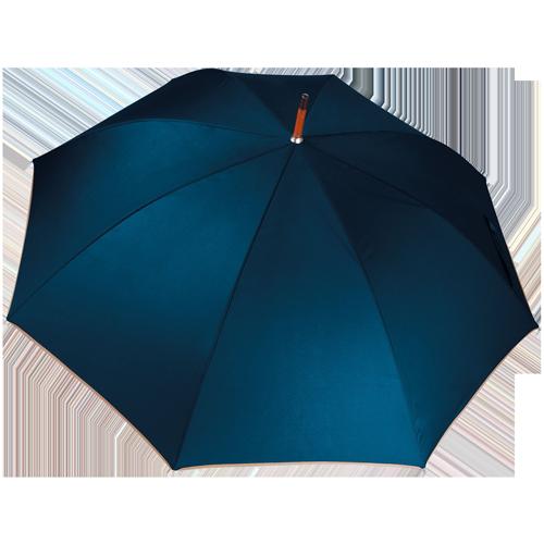 Parapluie poignée bois-Deep Navy(#1c1748)-Unique