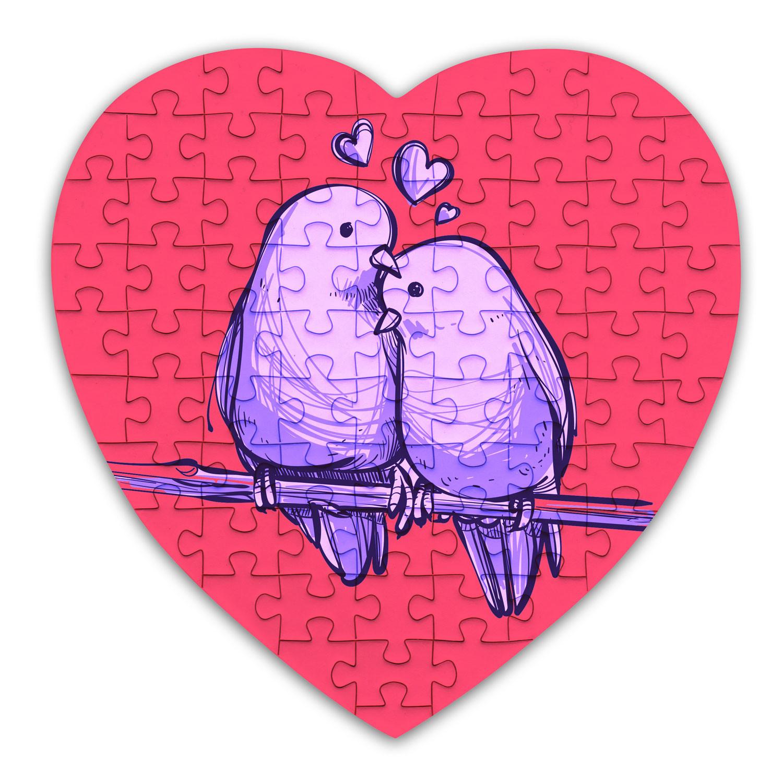 Puzzle cœur 75 pièces