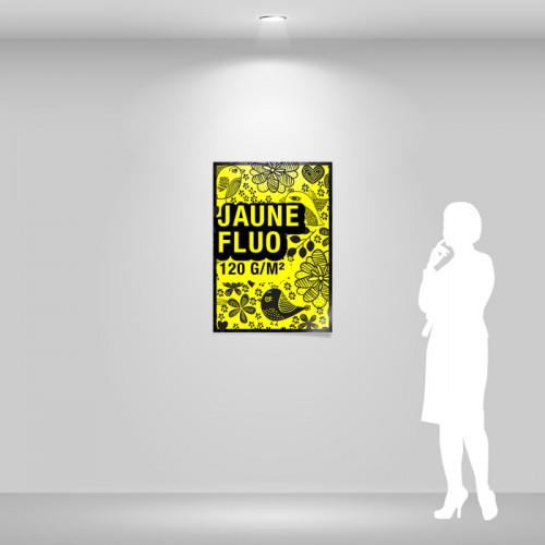 Affiche papier jaune fluo A1