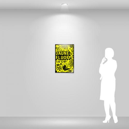 Affiche papier jaune fluo A2