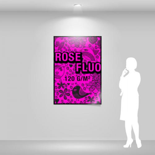 Affiche papier rose fluo A0