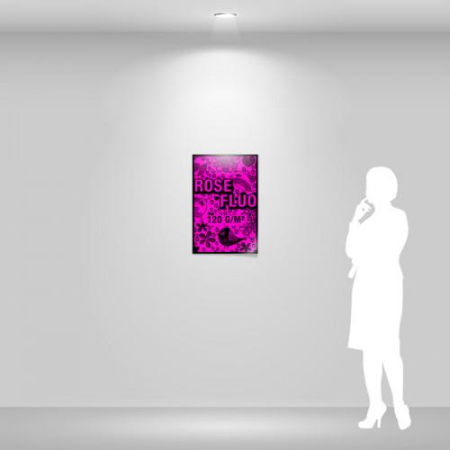 Affiche papier rose fluo A2