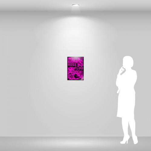 Affiche papier rose fluo A3