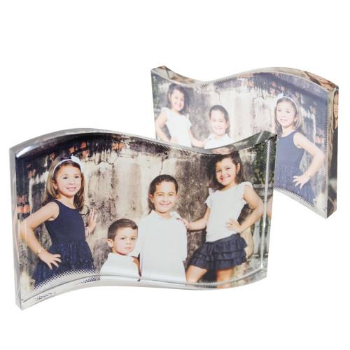 Bloc photo cristal vague 18*11*2 cm