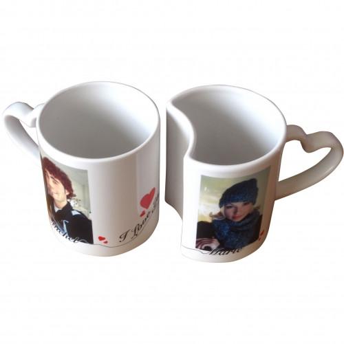 Duo de mug céramique amoureux